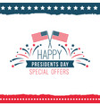 happy presidents day special offer poster vector image vector image
