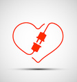 heart logo Stock vector image vector image