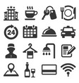 hotel room service related icon set vector image