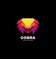 logo cobra gradient colorful style vector image vector image