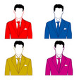 man in varicoloured suit vector image vector image