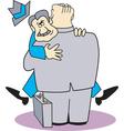 man love hug vector image vector image