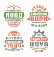 Military and scout badges vector image