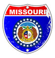 missouri flag icons as interstate sign vector image vector image