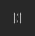 Monogram logo N letter business card emblem vector image vector image