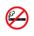 no smoking sign symbol vector image