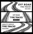 off road tire tracks black car tyre prints banners vector image vector image