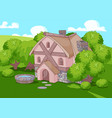 old english style house vector image vector image