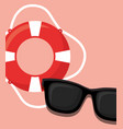 pool float and sunglasses icon vector image vector image