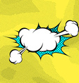 Pop-art expression comics book steam cloud vector image vector image