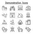 protest riot election remonstrance demonstration vector image