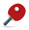 Racket for playing table tennis vector image vector image