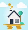 Real estate cashflow assets in flat design concept vector image