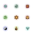 Religion icons set pop-art style vector image vector image