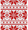 scandinavian red knitted pattern vector image vector image