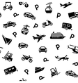Seamless backdrop transport icons wrapping paper vector image vector image