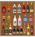 Set alcoholic beverages vector image