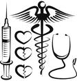 set medical signs vector image