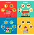 Supermarket Concept Set vector image vector image