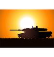tank silhouette vector image