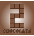The number of bars chocolate Two vector image vector image