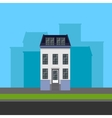 townhouse in flat polygonal style vector image vector image