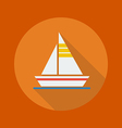 Travel Flat Icon Sail boat vector image