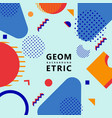 trendy geometric shapes memphis hipster background vector image vector image