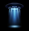 ufo realistic alien spaceship with light beam