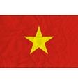 Vietnam paper flag vector image