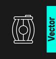 white line gun powder barrel icon isolated on vector image vector image