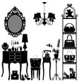woman cosmetic accessories room furniture a vector image vector image