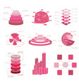 big set of diaram elements vector image