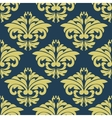 Vintage floral yellow damask seamless pattern vector image