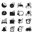 silhouette sleep icons vector image