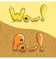 inscriptions WOW POW in the form of cartoon vector image