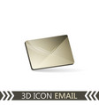 3d icon email envelope vector image vector image