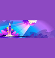 abstract banner storm sea landscape vector image vector image