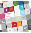 abstract squares infographic template vector image vector image