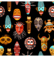African Ethnic Tribal Masks Seamless Pattern vector image