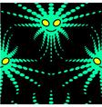 alien seamless pattern vector image vector image