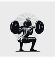 athletic fitness woman doing squat vector image