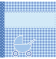 baby arrival announcement for boy vector image vector image