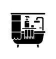 bathroom black glyph icon