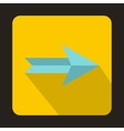 Blue right arrow icon flat style vector image vector image