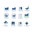 business financial logo collection vector image vector image