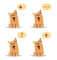 cartoon dogs with speech bubbles flat vector image vector image