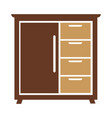 chest drawers icon isolated vector image vector image