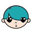 child boy face with hairstyle design vector image vector image