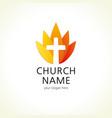 church cross logo vector image vector image